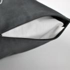Interjero pagalvė NAMAI KUR ŠEIMA, tamsiai pilka