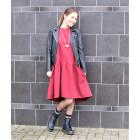 Moteriška patogi ir stilinga suknelė VENECIJA Burgundy Light