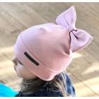 Ypatingai stilinga vaikiška kepurė FASHIONISTA pudra