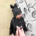 Ypatingai stilinga dviguba kepurė su tinkleliu FASHIONISTA tamsiai pilka