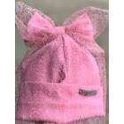Ypatingai stilinga dviguba kepurė su tinkleliu FASHIONISTA rožinė