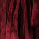 Moteriška prabangi suknelė VALENCIJA Bordo Aksominė klostuota