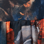 Moteriška prabangi suknelė WOW 3D gėlėta mėlyna midi