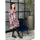 Moteriška prabangi suknelė WOW 3D gėlėta pastelinė midi