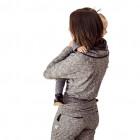 Moteriškos kilpinės laisvalaikio kelnės PARIS pilka/juoda
