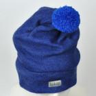 GNOM dviguba vilnonė kepurė rugiagėlių