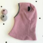 Stilingas patogus HELMET rudeninis žieminis moheros vaikiškas šalmukas su ausytėm Pelenų Rožė