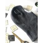 Stilingas patogus HELMET rudeninis žieminis egipto vilnelės vaikiškas šalmukas su ausytėm Tamsiai pilkas