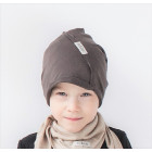 Vaikiška plona kepurė UPSIDEDOWN - moca