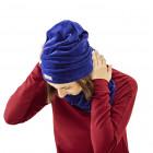 SCREWcz dviguba veliūrinė kepurė rugiagėlė