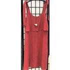 Įspūdinga minkštinto lino moteriška suknelė SANTORINI avietė