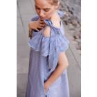 Įspūdinga moteriška suknelė FIJI smulkūs dryžiai