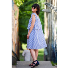 Įspūdinga moteriška suknelė SANTORINI stambūs dryžiai
