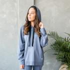 Moteriškas stilingas laisvalaikio džemperis BUBOO active, mėlyna - indigo