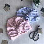 Vasarinė plona kepurė turbanas KNOT šviesiai rožinis - pudra