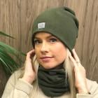 Moteriška patogi, jauki, tobula kepurė -Chaki
