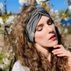 Stilinga galvajuostė moterims KNOT, pilka pienė