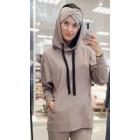 Moteriškas stilingas laisvalaikio džemperis BUBOO active, smėlis