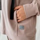 Moteriškas stilingas laisvalaikio džemperis BUBOO active MAMA, pelenų rožė