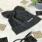 Vaikiška kepurė - ypatingai stilinga FASHIONISTA tamsiai pilka