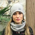 Women fall winter beanie hat - Grey