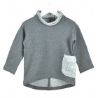 POCKET top grey wool pocket