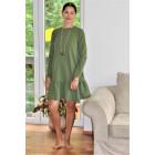 Moteriška patogi ir stilinga suknelė FLORENCIJA Pistacijos