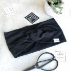 Stilinga galvajuostė moterims KNOT, juoda