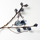 Moteriškas įspūdingas ir stilingas kaklo papuošalas LEITĖ dangaus mėlyna