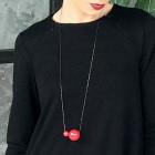 Moteriškas įspūdingas ir stilingas kaklo papuošalas MADEIRA raudona