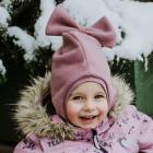 Stilingas patogus rudeninis žieminis vaikiškas šalmukas FASHIONISTA Pelenų Rožė