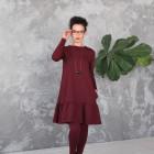 Moteriška patogi ir stilinga suknelė FLORENCIJA Burgundy