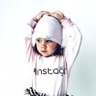 Plona kepurė vienguba SIMPLE cukraus vata švelniai rožinė