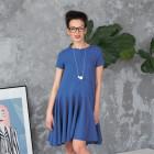 Įspūdinga lengva lino/viskozės moteriška suknelė Cuba Džinsas