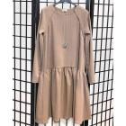 Moteriška patogi ir stilinga suknelė VENECIJA Latte