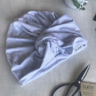 Summer kids and adults thin beanie TURBAN - Mist