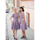 Įspūdinga lengva lino/viskozės moteriška suknelė CUBA Pelenų Rožė