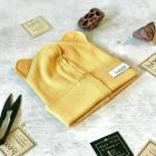 Vaikiška dviguba kepurė BEAR GARSTYČIOS, tamsiai geltona