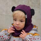Rudens/pavasario vaikiškas šalmukas BEAR baklažanas