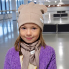 BEAR COCOA doublelayered beanie