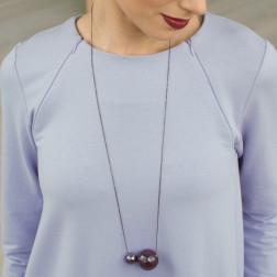 Moteriškas įspūdingas ir stilingas kaklo papuošalas MADEIRA baklažanas