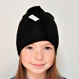 Vaikiška plona kepurė UPSIDEDOWN - anglis, juoda