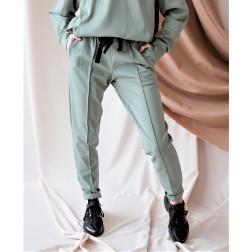 Moteriškos stilingos laisvalaikio kelnės BUBOO active, mėta