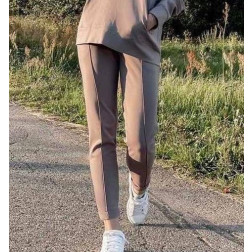 Moteriškos stilingos laisvalaikio kelnės BUBOO active, smėlis
