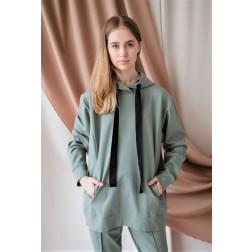 Moteriškas stilingas laisvalaikio džemperis BUBOO active, mėta