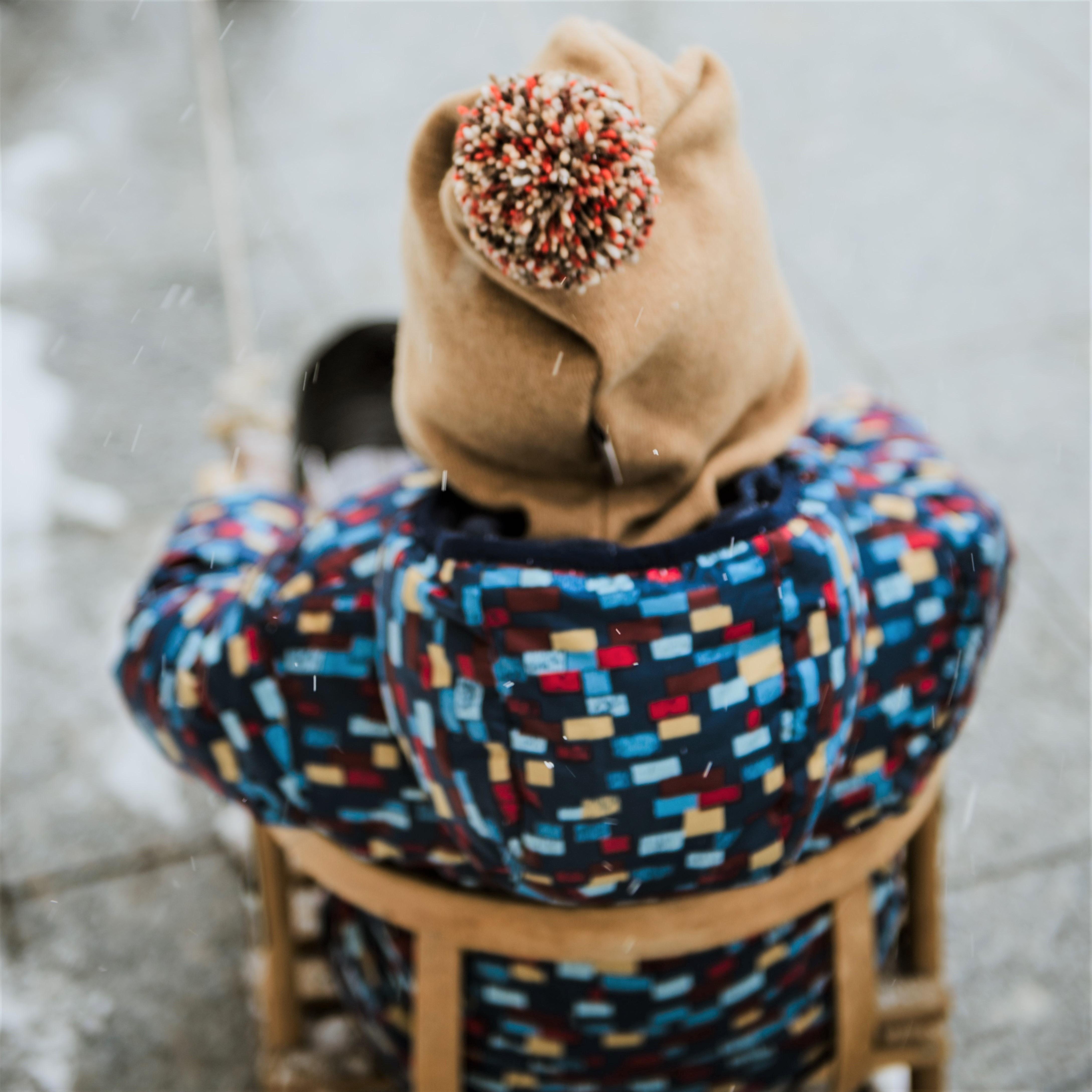 Brown beanie pompom beanie helmet balaclava